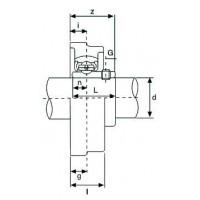 Подшипниковый узел UFL004 ISB