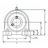 Подшипниковый узел UCPA205B38 ISB EcoLine